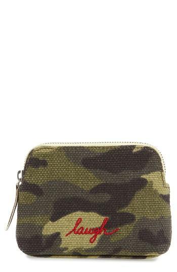 Ed Ellen Degeneres Small Darien Zip Case, Size - Army Green