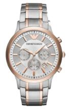 Men's Emporio Armani Two-tone Chronograph Bracelet Watch, 43mm