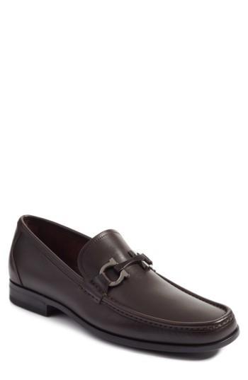 Men's Salvatore Ferragamo Grandioso Bit Loafer .5 W - Brown
