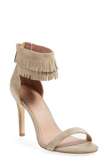 Women's Joie 'alek' Fringe Ankle Strap Sandal,