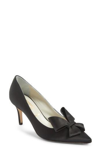 Women's Something Bleu Caitlin Bow Pointy Toe Pump M - Black