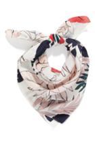 Women's Halogen Paradise Floral Silk Square Scarf