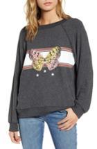 Women's Wildfox Sommers Papillion Sweatshirt - Black