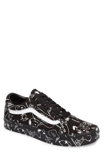Men's Vans X Peanuts Old Skool Sneaker M - Black