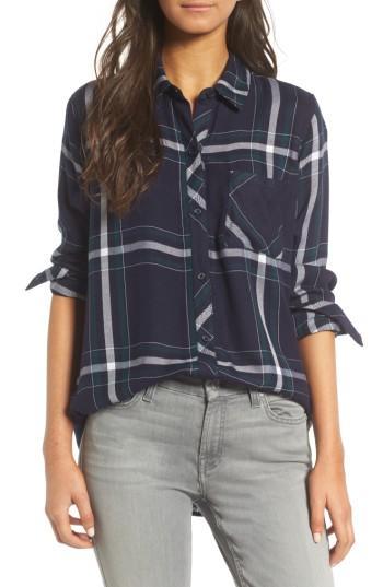 Women's Rails Hunter Plaid Shirt, Size - Blue