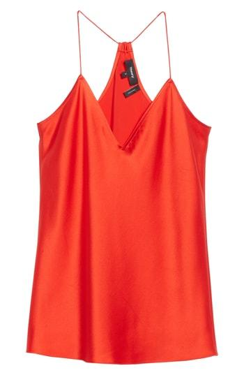 Women's Theory Vintage Draped Back Slip Camisole Top - Red