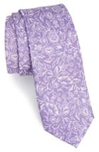 Men's The Tie Bar Bracken Blossom Silk Tie, Size - Purple