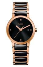 Women's Rado Centrix Diamond Ceramic Bracelet Watch, 28mm