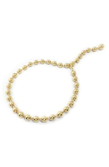 Women's Biko Switchback Dot Chain Collar Necklace