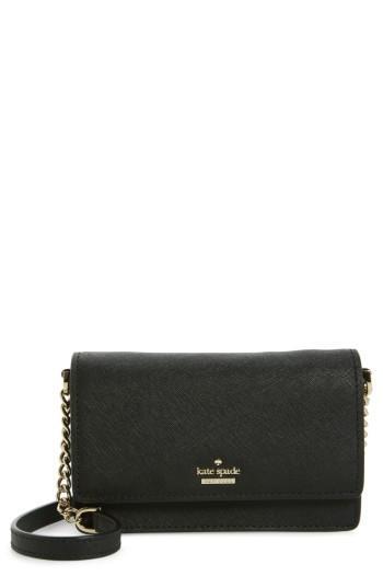 Women's Kate Spade New York Cameron Street - Shreya Leather Crossbody Bag - Black