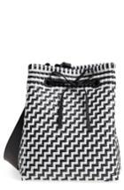 Truss Large Square Bucket Bag - Black