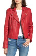 Women's Rebecca Minkoff Wolf Leather Moto Jacket, Size - Red