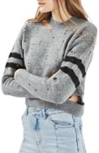 Women's Topshop Nibbled Stripe Sweater