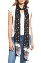 Women's Rebecca Minkoff Ditsy Floral Skinny Scarf, Size - Black