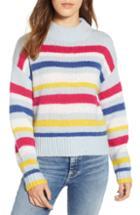 Women's Rebecca Minkoff Brittany Stripe Mock Neck Sweater - Blue