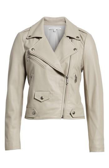 Women's Rebecca Minkoff Wes Leather Moto Jacket, Size - Pink