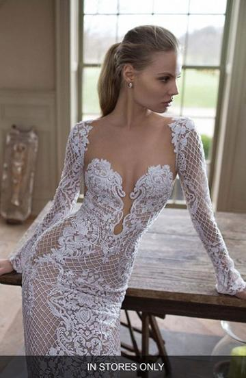 Women's Berta Illusion Mermaid Gown