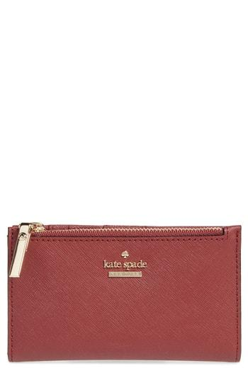 Women's Kate Spade New York Cameron Street - Mikey Crosshatched Leather Wallet -