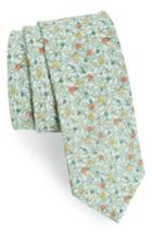Men's The Tie Bar Floral Buzz Linen Tie, Size - Green