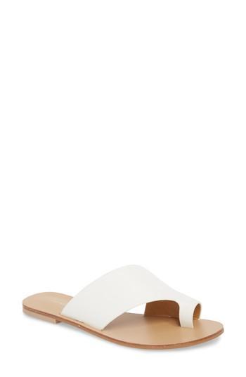 Women's Chinese Laundry Glory Asymmetrical Slide Sandal M - White
