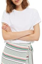 Women's Topshop Roll Crop Tee Us (fits Like 0) - White