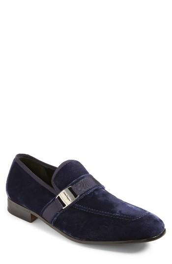 Men's Salvatore Ferragamo Danny 2 Bit Loafer .5 M - Blue