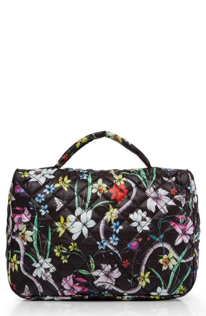 Mz Wallace Quilted Zip Around Cosmetic Bag