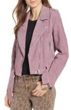 Women's Blanknyc Suede Moto Jacket - Purple