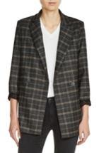 Women's Maje Plaid Blazer - Grey