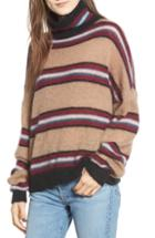 Women's Rebecca Minkoff Ella Stripe Turtleneck Sweater - Beige