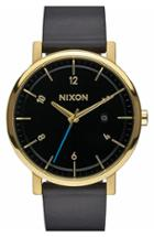 Men's Nixon 'rollo' Leather Strap Watch, 42mm