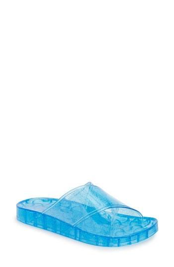 Women's Topshop Roxy Jelly Slide Sandal .5us / 35eu M - Blue