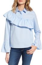 Women's Sincerely Jules Asymmetrical Ruffle Blouse - Blue