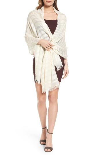 Women's Echo Evening Stripe Wrap, Size - White