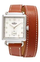 Women's Shinola Cass Leather Strap Watch, 28mm