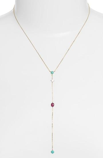 Women's Nadri Stone Drop Y-necklace