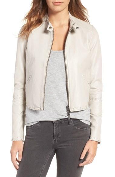 Women's Rebecca Minkoff Neva Leather Moto Jacket