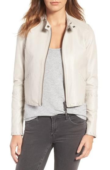 Women's Rebecca Minkoff Neva Leather Moto Jacket