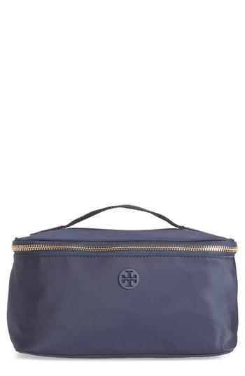 Tory Burch Nylon Cosmetics Case, Size - Tory Navy