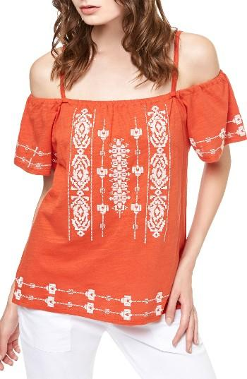 Women's Sanctuary Magnolia Embroidered Off The Shoulder Top