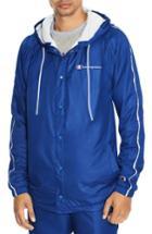 Men's Champion Satin Hooded Jacket - Blue