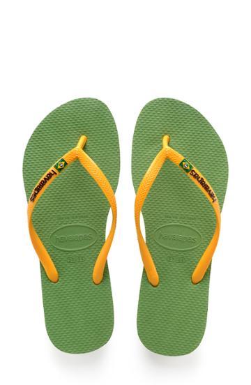 Women's Havaianas Slim Brazil Flip Flop /42 Br - Green
