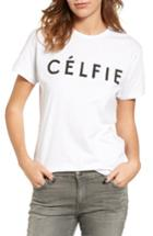 Women's Sincerely Jules 'celfie' Graphic Tee - White