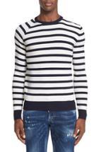 Men's Dsquared2 Stripe Knit Wool Sweater