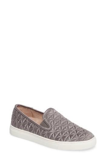 Women's Vince Camuto Billena Quilted Slip-on Sneaker M - Grey