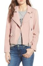Women's Rebecca Minkoff Wes Suede Moto Jacket, Size - Pink
