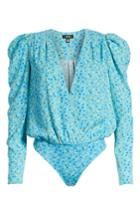 Women's Afrm Nora Thong Bodysuit - Blue