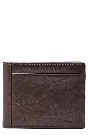 Men's Fossil Leather Wallet - Brown