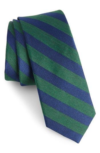 Men's The Tie Bar Lumber Stripe Silk & Linen Tie