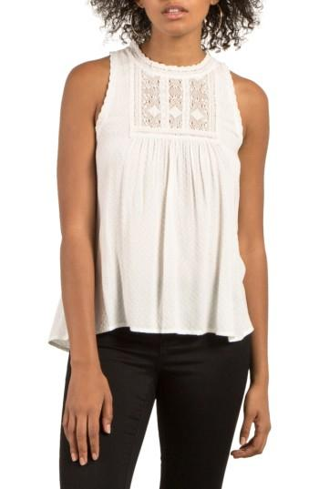 Women's Volcom Crunchroll Lace Trim Top - White